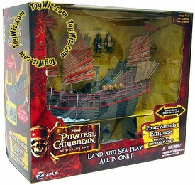 Zizzle Pirates of the Caribbean At World's End Micro Ship Pirate Armada Empress with Pull Out Singapore Playset
