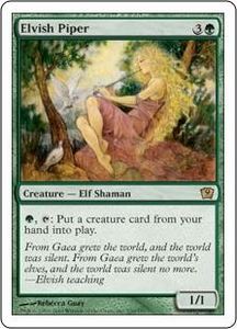 Magic the Gathering Ninth Edition Single Card Rare #239 Elvish Piper