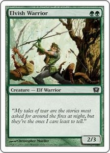 Magic the Gathering Ninth Edition Single Card Common #240 Elvish Warrior