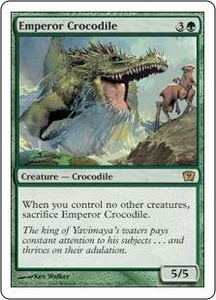 Magic the Gathering Ninth Edition Single Card Rare #241 Emperor Crocodile