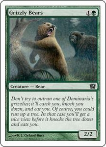 Magic the Gathering Ninth Edition Single Card Common #246 Grizzly Bears