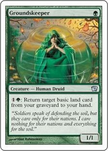 Magic the Gathering Ninth Edition Single Card Uncommon #247 Groundskeeper
