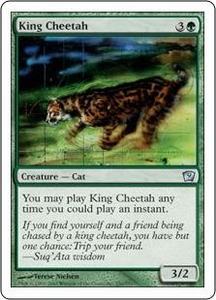 Magic the Gathering Ninth Edition Single Card Uncommon #250 King Cheetah