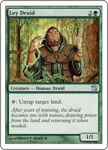 Magic the Gathering Ninth Edition Single Card Uncommon #251 Ley Druid