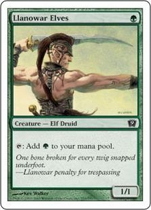 Magic the Gathering Ninth Edition Single Card Common #253 Llanowar Elves