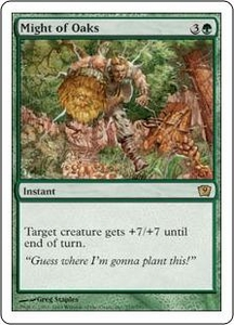 Magic the Gathering Ninth Edition Single Card Rare #255 Might of Oaks