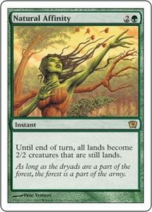 Magic the Gathering Ninth Edition Single Card Rare #256 Natural Affinity