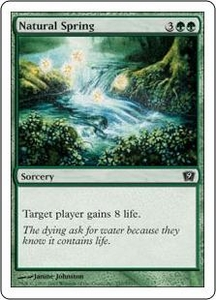 Magic the Gathering Ninth Edition Single Card Common #257 Natural Spring