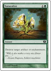 Magic the Gathering Ninth Edition Single Card Common #258 Naturalize