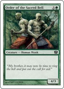 Magic the Gathering Ninth Edition Single Card Common #261 Order of the Sacred Bell