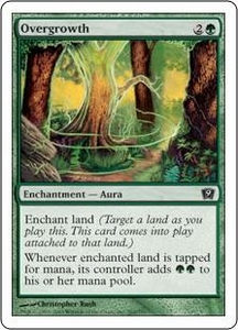 Magic the Gathering Ninth Edition Single Card Common #262 Overgrowth