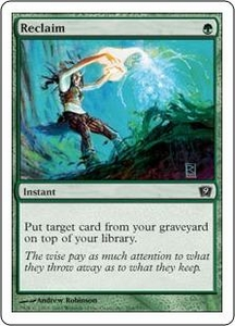 Magic the Gathering Ninth Edition Single Card Common #264 Reclaim