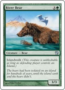 Magic the Gathering Ninth Edition Single Card Uncommon #266 River Bear
