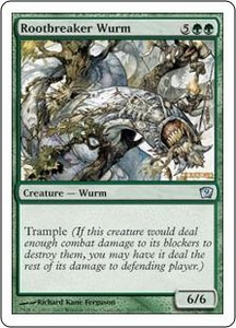 Magic the Gathering Ninth Edition Single Card Uncommon #267 Rootbreaker Wurm