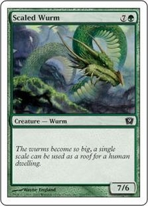 Magic the Gathering Ninth Edition Single Card Common #269 Scaled Wurm