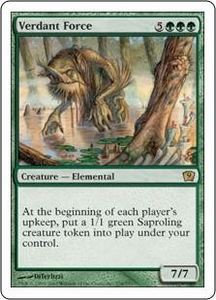 Magic the Gathering Ninth Edition Single Card Rare #278 Verdant Force