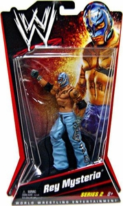 Mattel WWE Wrestling Basic Series 2 Action Figure Rey Mysterio [Light Blue Mask & Pants] BLOWOUT SALE!