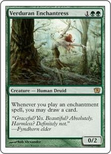 Magic the Gathering Ninth Edition Single Card Rare #279 Verduran Enchantress
