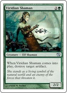 Magic the Gathering Ninth Edition Single Card Uncommon #280 Viridian Shaman