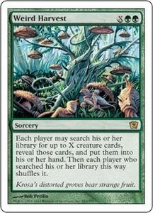 Magic the Gathering Ninth Edition Single Card Rare #282 Weird Harvest