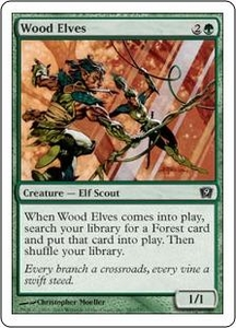 Magic the Gathering Ninth Edition Single Card Common #283 Wood Elves