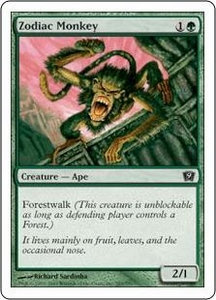 Magic the Gathering Ninth Edition Single Card Common #285 Zodiac Monkey