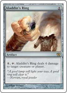 Magic the Gathering Ninth Edition Single Card Rare #286 Aladdin's Ring