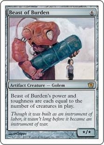 Magic the Gathering Ninth Edition Single Card Rare #288 Beast of Burden