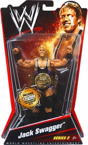 Mattel WWE Wrestling Basic Series 2 Action Figure Jack Swagger [Commemorative Champioinship Belt] BLOWOUT SALE! Damaged Package, Mint Contents!