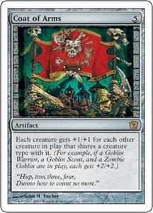 Magic the Gathering Ninth Edition Single Card Rare #291 Coat of Arms