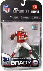 McFarlane Toys NFL Sports Picks Series 22 [2009 Wave 3] Action Figure Tom Brady (New England Patriots) Red AFL Jersey Silver Collector Level Chase Only 1,000 Made!