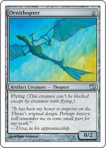 Magic the Gathering Ninth Edition Single Card Uncommon #305 Ornithopter