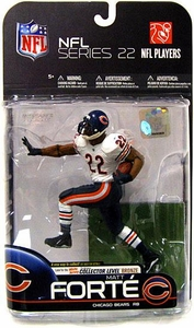 McFarlane Toys NFL Sports Picks Series 22 [2009 Wave 3] Action Figure Matt Forte (Chicago Bears) White Jersey Bronze Collector Level Chase Only 2,000 Made!