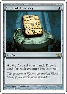 Magic the Gathering Ninth Edition Single Card Rare #308 Slate of Ancestry
