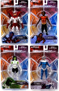 DC Direct Green Lantern Brightest Day Series 3 Set of 4 Action Figures [Hawk, Dove, Jade & Aqualad]