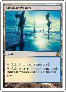 Magic the Gathering Ninth Edition Single Card Rare #317 Adarkar Wastes