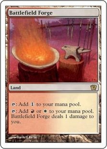 Magic the Gathering Ninth Edition Single Card Rare #318 Battlefield Forge