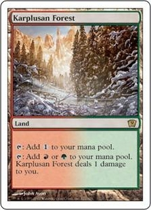 Magic the Gathering Ninth Edition Single Card Rare #321 Karplusan Forest