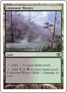 Magic the Gathering Ninth Edition Single Card Rare #322 Llanowar Wastes