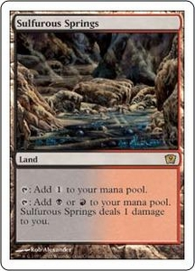 Magic the Gathering Ninth Edition Single Card Rare #325 Sulfurous Springs