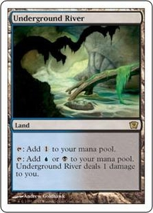 Magic the Gathering Ninth Edition Single Card Rare #326 Underground River