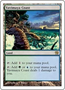 Magic the Gathering Ninth Edition Single Card Rare #330 Yavimaya Coast