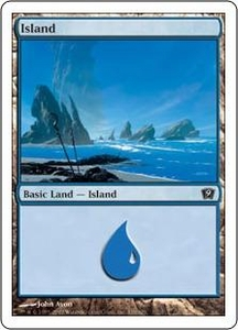 Magic the Gathering Ninth Edition Single Card Land #335 Island [Random Artwork]