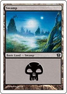 Magic the Gathering Ninth Edition Single Card Land #339 Swamp [Random Artwork]