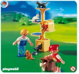 Playmobil Suburban Life Set #4347 Cat Scratch Tree