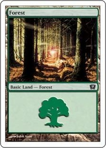 Magic the Gathering Ninth Edition Single Card Land #347 Forest [Random Artwork]