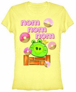 Angry Birds Women's Printed T-Shirt Nom Nom Nom BLOWOUT SALE!