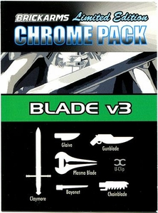BrickArms Limited Edition Chrome Pack Blade v3 BLOWOUT SALE!