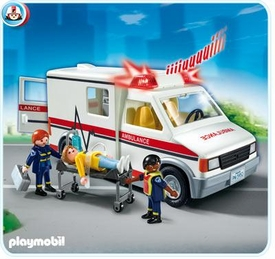 Playmobil Rescue Set #5952 Rescue Ambulance [Lights & Sounds!]
