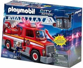 Playmobil Rescue Set #5980 Rescue Ladder Unit [Lights & Sounds!]